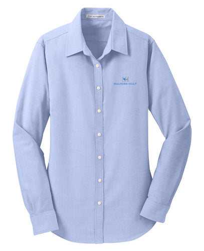 Port Authority Oxford Blue L658 company logo shirts