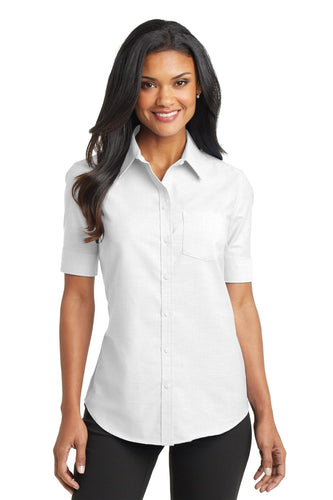 Port Authority White L659 work shirts with logo