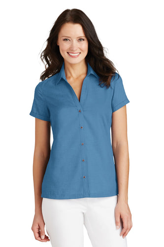 Port Authority Ladies Textured Camp Shirt