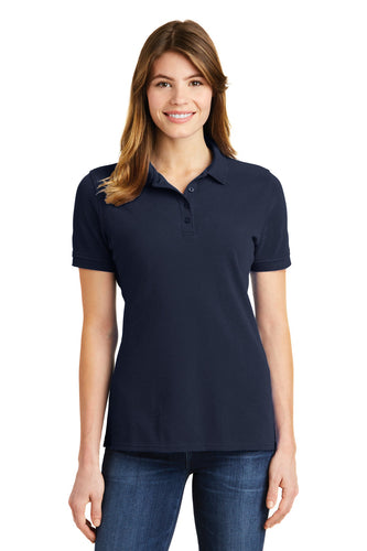 port & company deep navy lkp1500 custom embroidered polo shirts