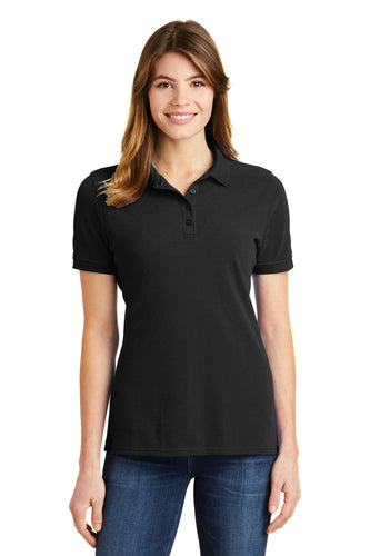 port & company jet black lkp1500 custom embroidered polo shirts