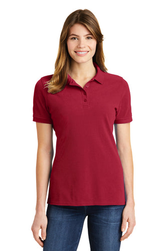 port & company red lkp1500 custom embroidered polo shirts