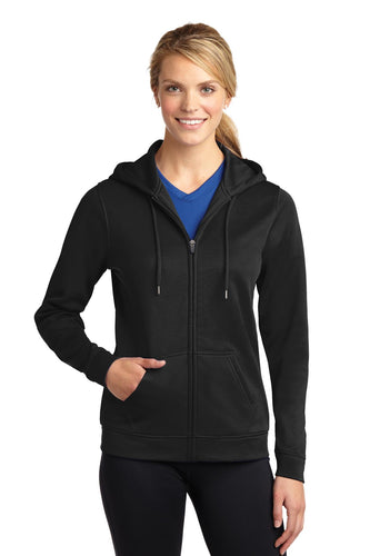 Sport-Tek Ladies Sport-Wick Fleece Full-Zip Hooded Jacket