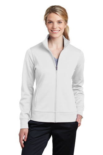 Sport-Tek White LST241  company jackets with logo