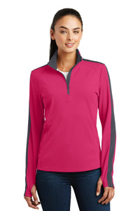 Sport-Tek Pink Raspberry/ Iron Grey LST861  custom business sweatshirts