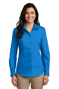 Port Authority Coastal Blue LW100 company logo shirts