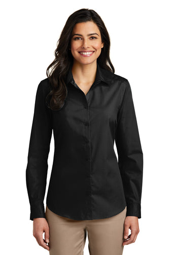 Port Authority Deep Black LW100 company logo shirts