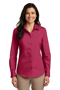 Port Authority Pink Azalea LW100 company logo shirts