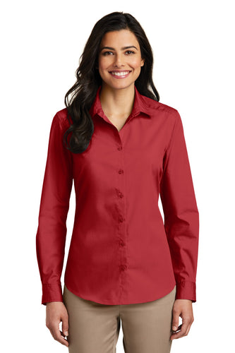 Port Authority Rich Red LW100 custom work shirts