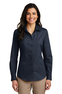 Port Authority River Blue Navy LW100 custom work shirts