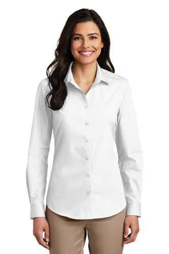 Port Authority White LW100 custom work shirts