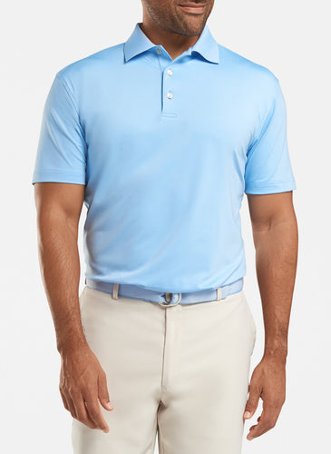 peter millar cottage blue ME0EK01 with solid performance polo custom logo polo shirts