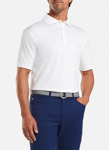 peter millar white ME0EK01 with solid performance polo custom logo polo shirts