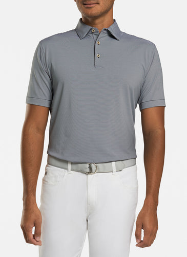 peter millar black ME0EK11S with jubilee stripe performance polo custom logo polo shirts