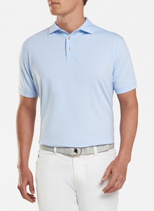 peter millar cottage blue ME0EK11S with jubilee stripe performance polo custom logo polo shirts