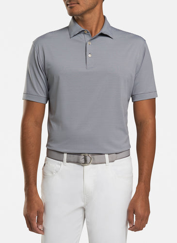 peter millar iron ME0EK11S with jubilee stripe performance polo custom logo polo shirts