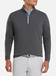 peter millar iron ME0EK40 perth stretch loop terry quarter zip with custom logo pullovers
