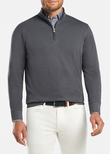 peter millar iron ME0K40 crown comfort interlock quarter zip with custom logo pullovers