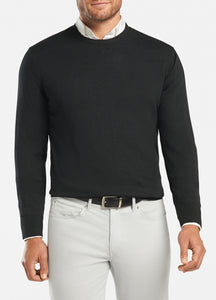 Peter Millar Mens Crown Soft Crew Sweater ME0S42 Black
