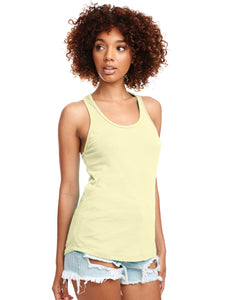 Next Level Ladies Ideal Racerback Tank N1533 Banana Cream