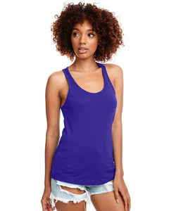 Next Level Ladies Ideal Racerback Tank N1533 Purple Rush