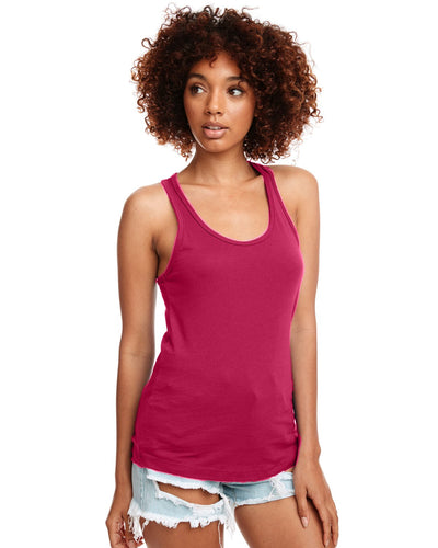 Next Level Ladies Ideal Racerback Tank N1533 Raspberry