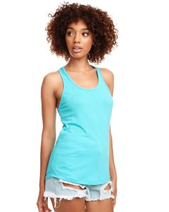 Next Level Ladies Ideal Racerback Tank N1533 Tahiti Blue