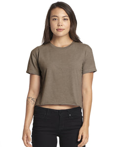 Next Level Ladies Festival Cali Crop T Shirt Ash