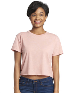 Next Level Ladies Festival Cali Crop T Shirt Desert Pink