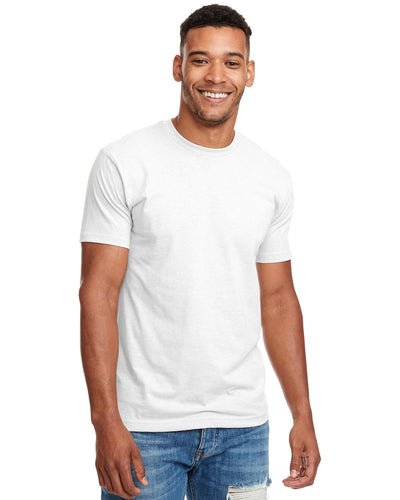 Next Level Mens Cvc Crew N6210 White