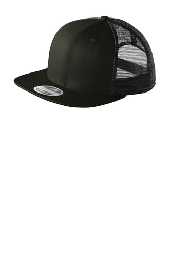 new era original fit snapback trucker cap black black