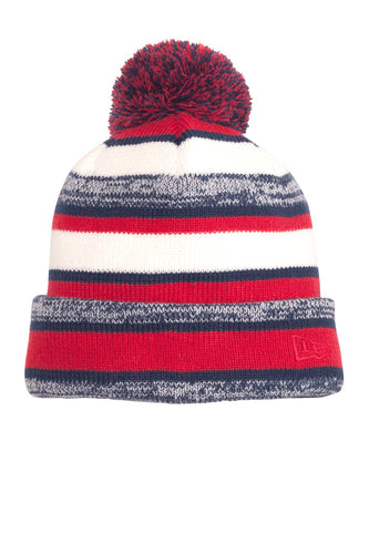 new era sideline beanie red navy