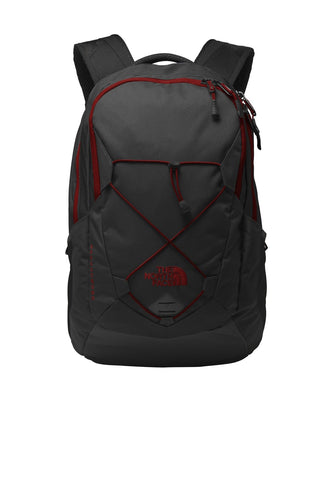 the north face groundwork backpack nf0a3kx6 tnf dark grey heather cardinal red