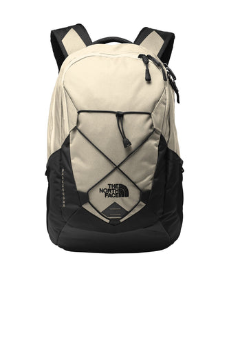 the north face groundwork backpack nf0a3kx6 rainyday ivory dark heather tnf black