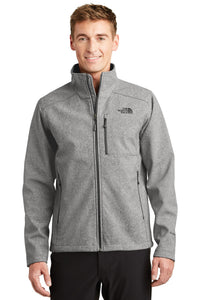 The North Face TNF Medium Grey Heather NF0A3LGT jacket company logo