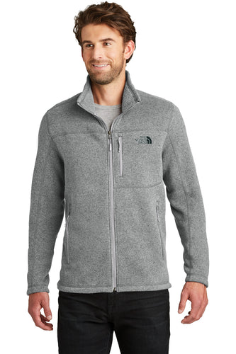 The North Face TNF Medium Grey Heather NF0A3LH7 company jackets with logo