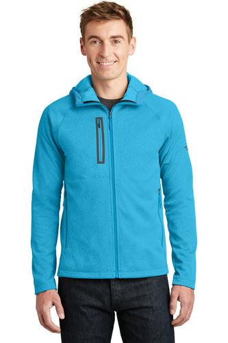 The North Face Hyper Blue Heather NF0A3LHH promotional jackets company logo