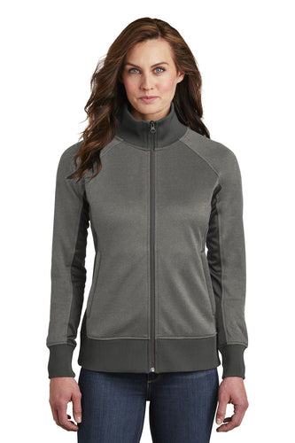 The North Face Ladies Tech FullZip Fleece Jacket NF0A3SEV TNF Medium Grey Heather/ Asphalt