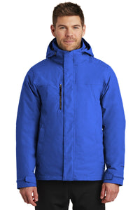 The North Face Monster Blue/ TNF Black NF0A3VHR  company logo jackets