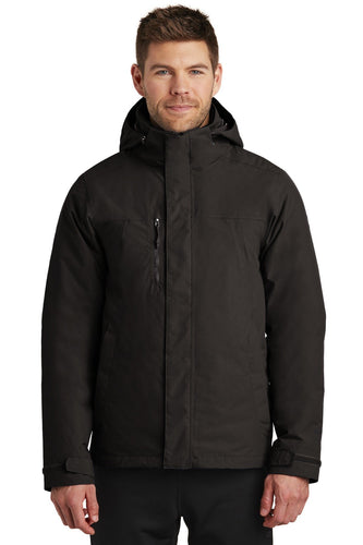 The North Face TNF Black/ TNF Black NF0A3VHR company jackets with logo