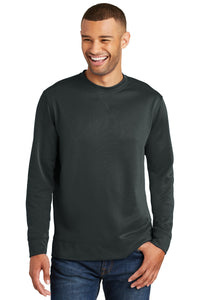 Port & Company Jet Black PC590 sweatshirts with logo printed