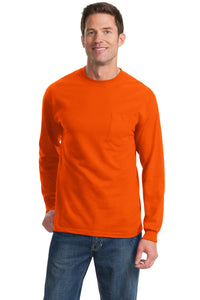 Port & Company Tall Long Sleeve Essential Pocket Tee