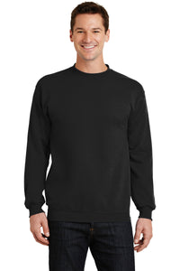 port & company jet black pc78 embroidered sweatshirts for business