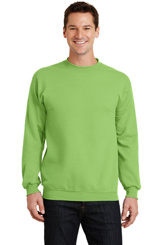 port & company lime pc78 embroidered sweatshirts for business