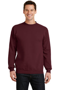 port & company maroon pc78 company sweatshirts embroidered