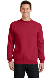 port & company red pc78 company sweatshirts embroidered