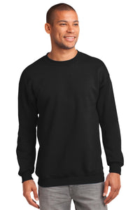 port & company_pc90t _jet black_company_logo_sweatshirts