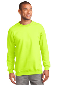 port & company_pc90t _safety green_company_logo_sweatshirts