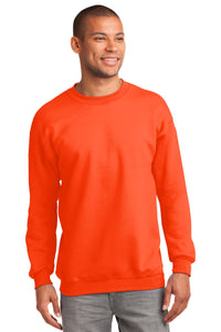 Port & Company Safety Orange PC90T custom design sweatshirts