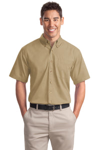 Port Authority Khaki S500T custom embroidered shirts